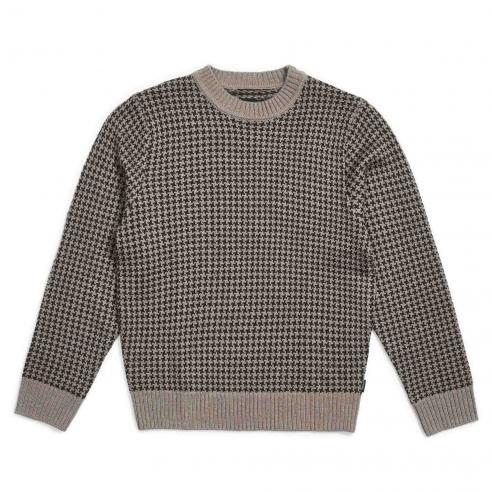 Brixton Wes Washed Black/Grey Knit...