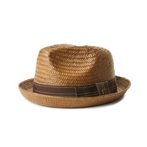 Brixton Castor Fedora Sepia/Brown Hat