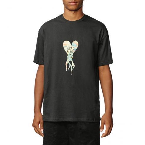 Camiseta Globe Dead Kooks Flame Heart Washed Black
