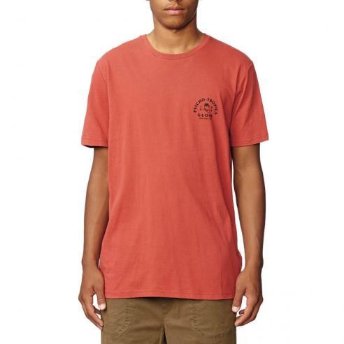 Camiseta Globe Arch Brick red