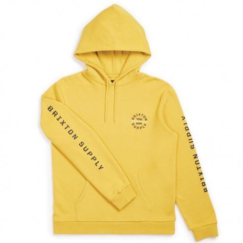 Sudadera Brixton Oath VI hood Sunset Yellow