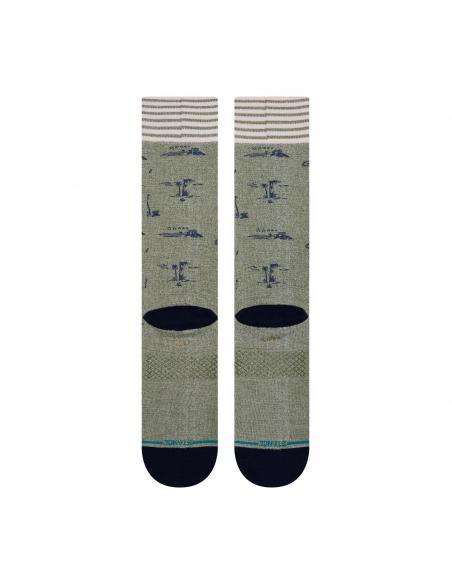 Stance Isle Tropics Army Green Socks