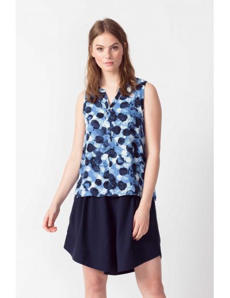 Camisa SKFK Adele Bubbles print blue