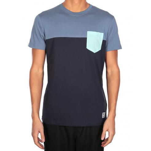 Iriedaily Block Pocket  Thunder Blue T-Shirt