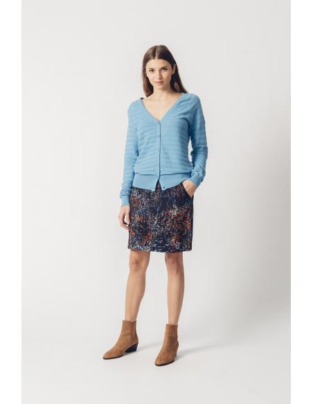 SKFK Basa Floral Blue Skirt