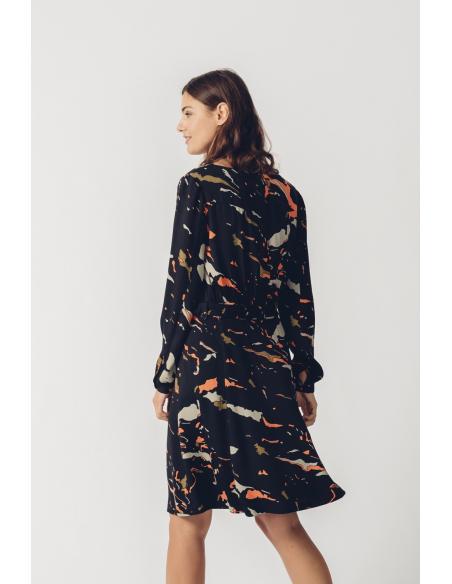 SKFK Negua Geo Olive Dress