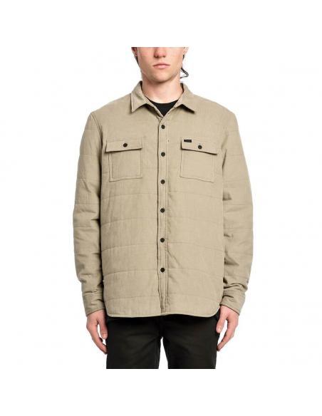 Camisa Globe Winton thermal cord shacket pumice