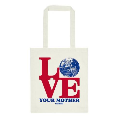 Bolsa Dedicated Tote bag Torekov Love Mother off-white
