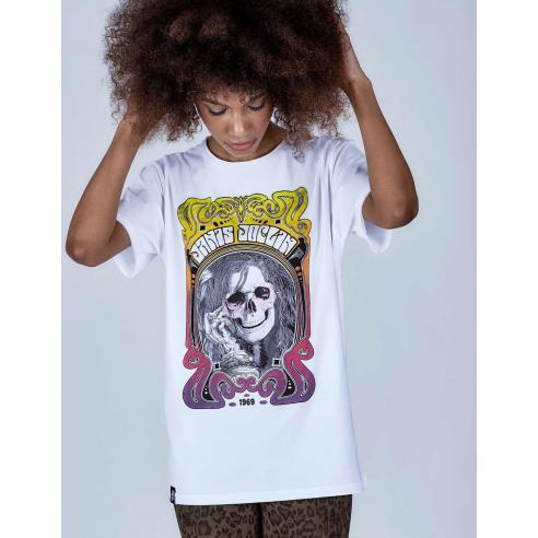 Camiseta Le Crane Janis Skull white