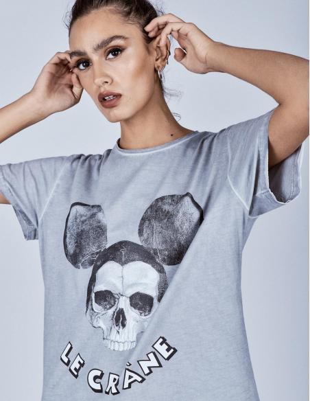Camiseta Le Crane Mouse Grey