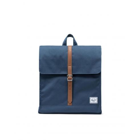 Mochila Herschel City Backpack Navy/Synthetic Leather