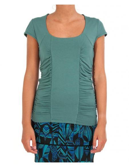T-shirt Skunkfunk Birkide Aqua green