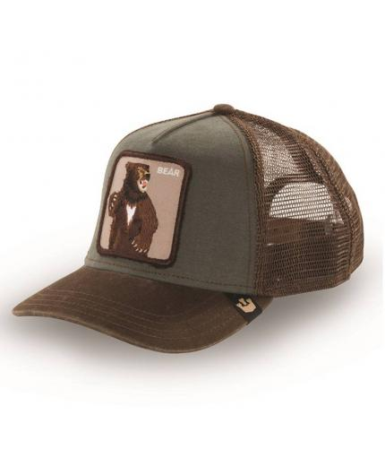 Goorin Bros Animal Farm Trucker Hat Lone Star Olive