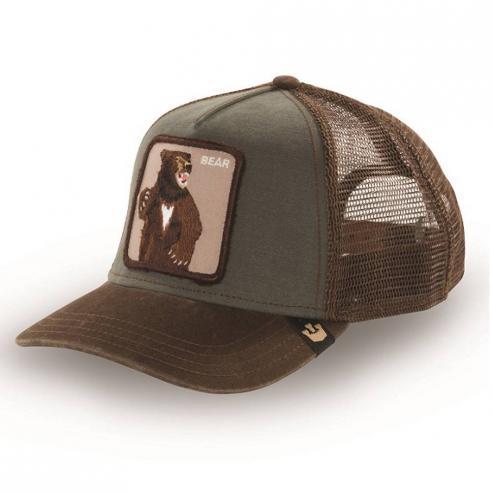 Goorin Bros Animal Farm Trucker Hat Lone Star Olive
