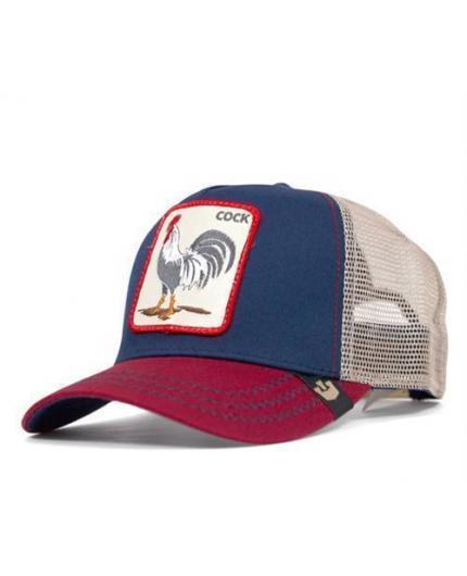 Goorin Bros Animal Farm Trucker Hat All American Rooster Navy