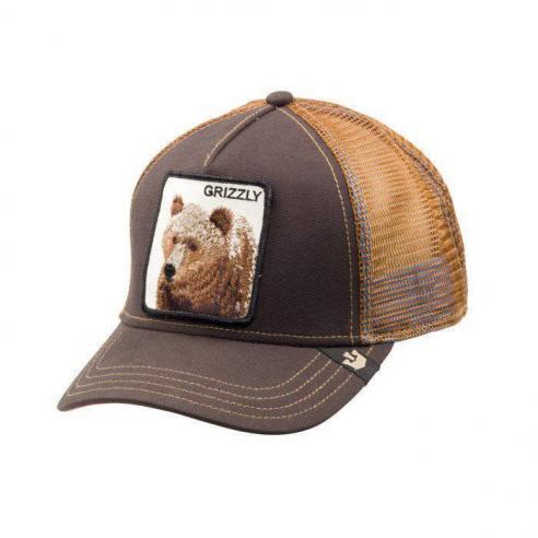 Goorin Bros Animal Farm Trucker Hat Grizz Brown