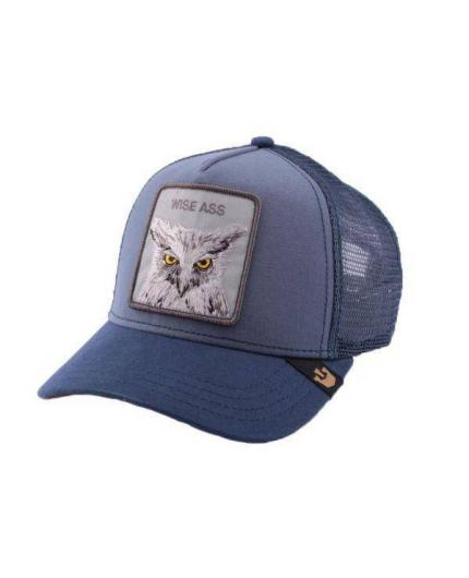 Gorra Goorin Bros Animal Farm Trucker Hat Smarty Pants Wise Ass Blue