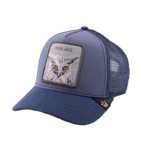 Gorra Goorin Bros Animal Farm Trucker Hat Smarty Pants Wise Ass Blue