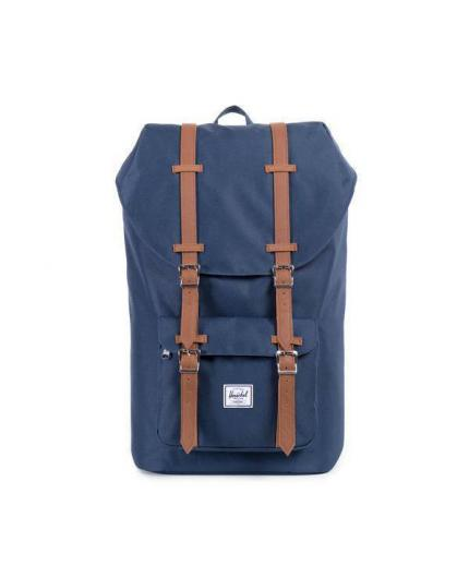 Herschel Supply Co Little America 25L Backpack Navy/Tan Synthetic Leather