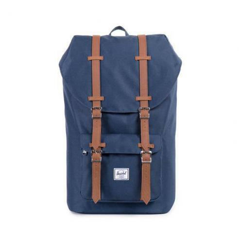 Mochila Herschel Little America 25L Backpack Navy/Tan Synthetic Leather