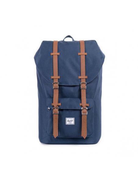 Mochila Herschel Little America 25L Backpack Navy/Tan Synthetic Leather