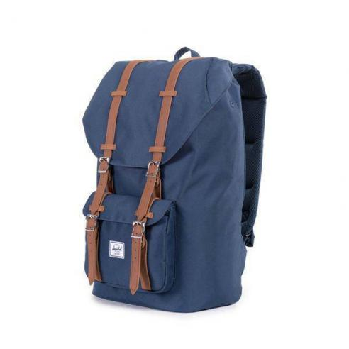 9e93bc8e233 Herschel Supply Co Little America 25L Backpack Navy Tan Synthetic Leather