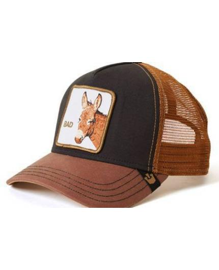 Goorin Bros Bad Ass Black Brown Animal Farm Trucker Hat