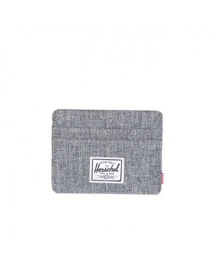 Herschel Charlie Card Wallet Raven Crosshatch