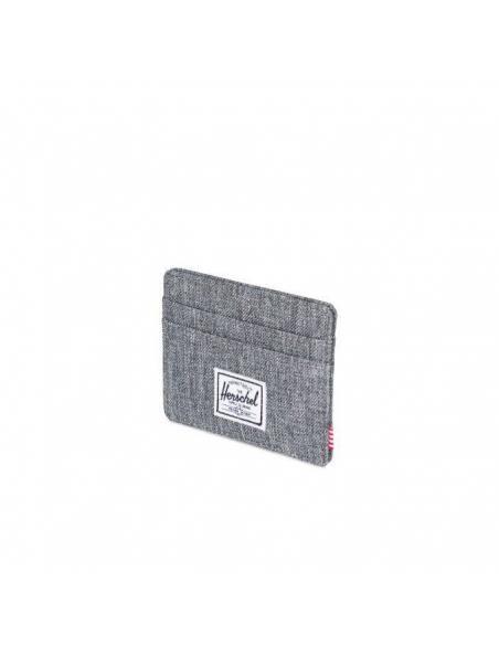 Herschel Charlie Card Wallet Raven Crosshatch