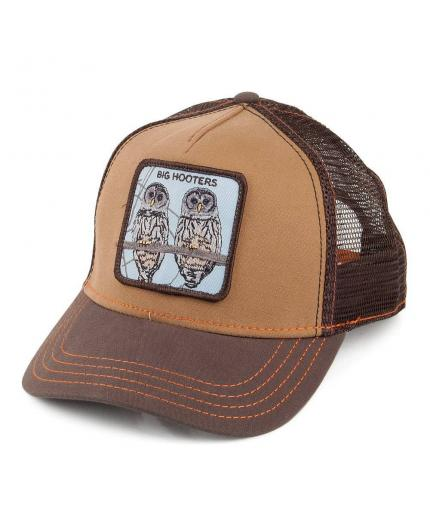 Gorra Goorin Bros Hooters Brown Animal Farm Trucker Hat