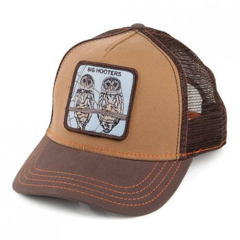 Gorra Goorin Bros Hooters Brown Animal Farm Trucker Hat