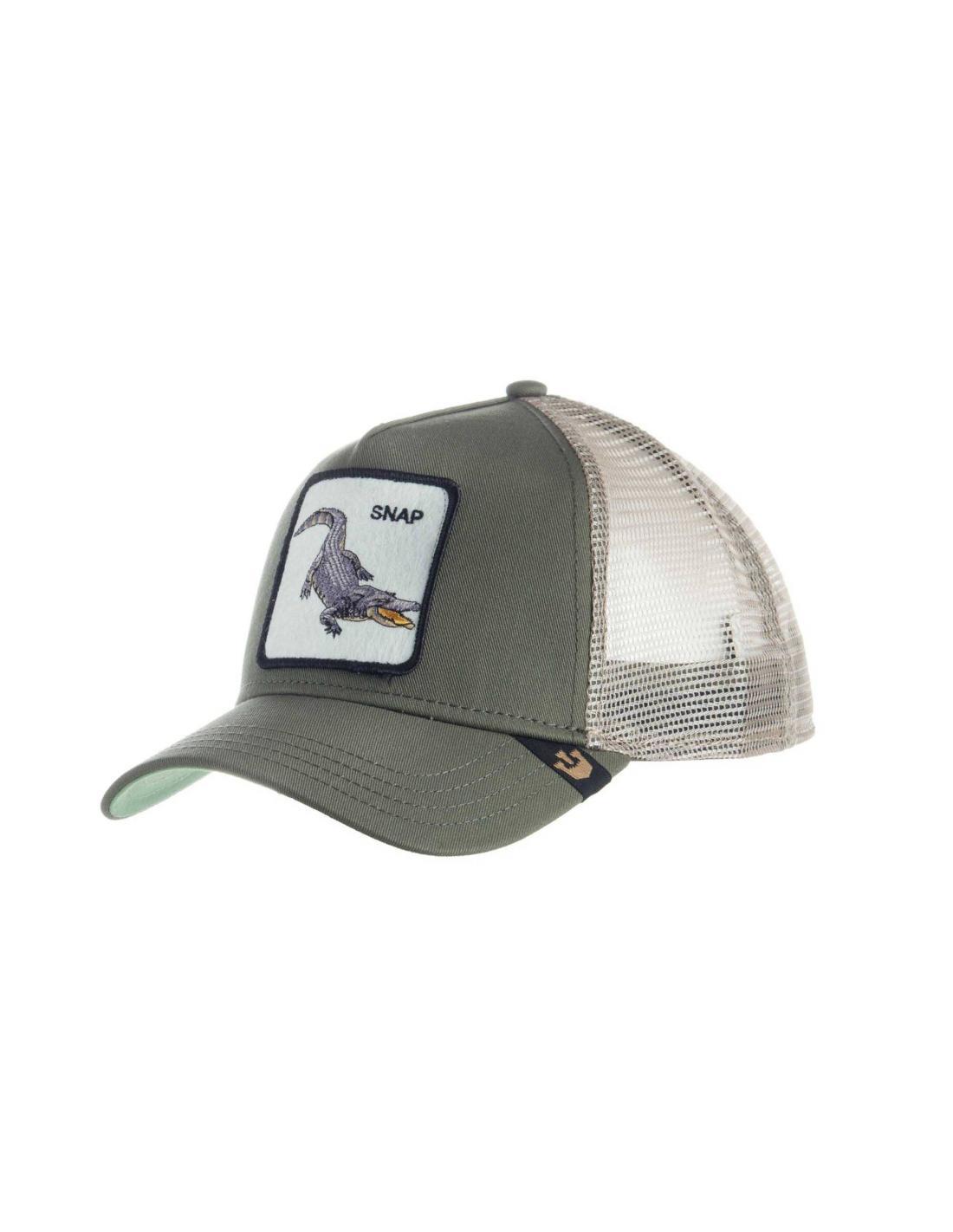 ... Gorra Goorin Snap At Ya Olive Animal Farm Trucker Hat c3877861551