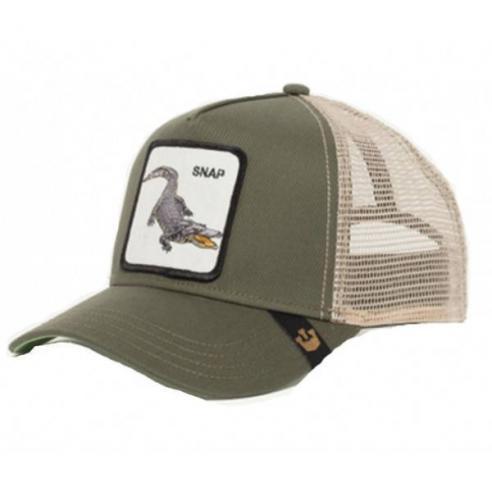 Goorin Bros Animal Farm Trucker Hat Snap At Ya Olive 4230c010365
