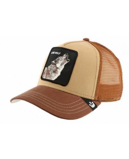 Goorin Bros Howler Lone Wolf Brown Animal Farm Trucker Hat