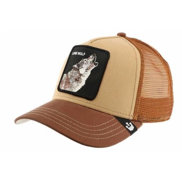 Goorin Bros Animal Farm Trucker Hat Howler Lone Wolf Brown 44f99db91f0