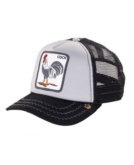 Gorra Goorin Bros Checkin Traps Cock Grey Animal Farm Trucker Hat