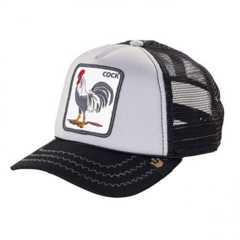 Goorin Bros Checkin Traps Cock Grey Animal Farm Trucker Hat