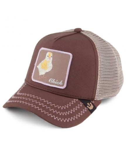 Gorra Goorin Bros Chicky Boom Brown Animal Farm Trucker Hat