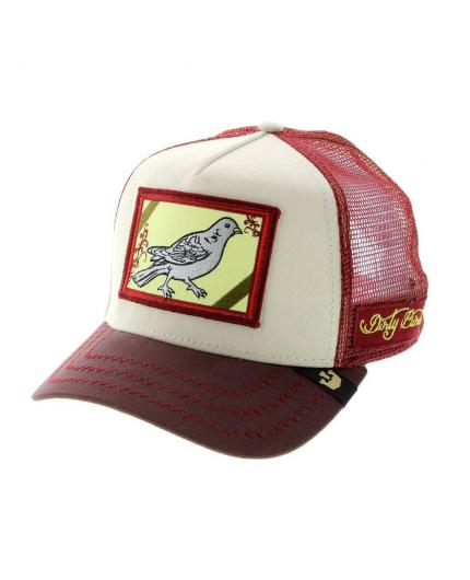 Goorin Bros Dirty Bird Maroon Animal Farm Trucker Hat