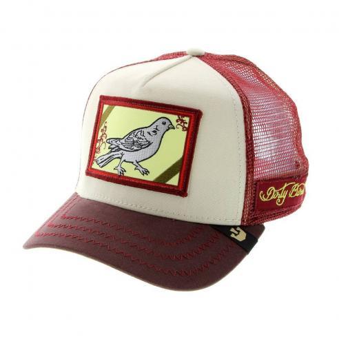 Goorin Bros Dirty Bird Maroon Animal Farm Trucker Hat