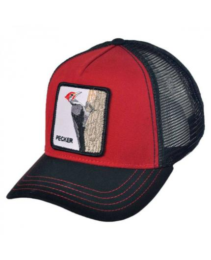 Goorin Bros Woody Wood Red Animal Farm Trucker Hat