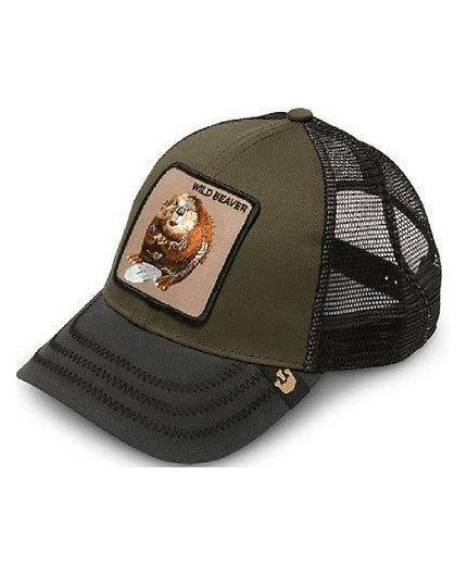 Goorin Bros Wild Beaver Olive Animal Farm Trucker Hat