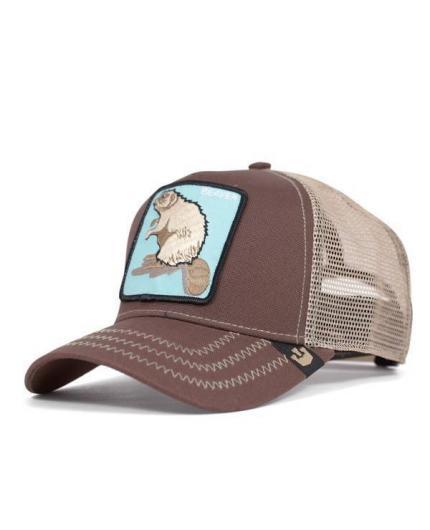 Gorra Goorin Bros Beaver Brown Animal Farm Trucker Hat