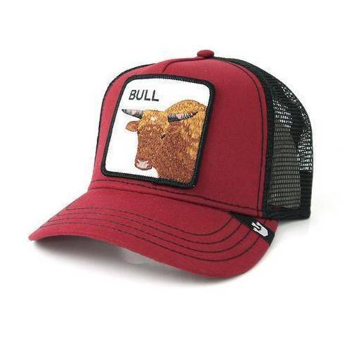 Gorra Goorin Bros Bull Red Animal Farm Trucker Hat