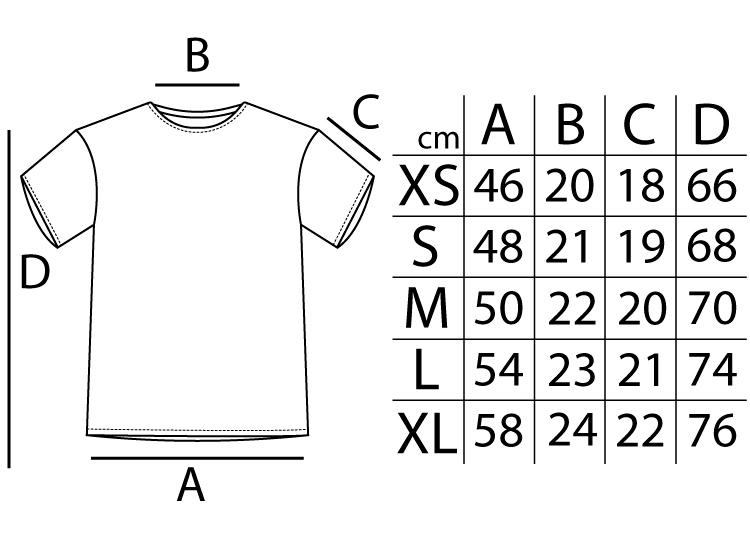 Tallas de camisetas Le Crane White