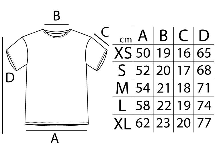 Tallas de Camisetas