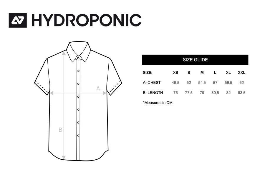 tallas camisas hydroponic
