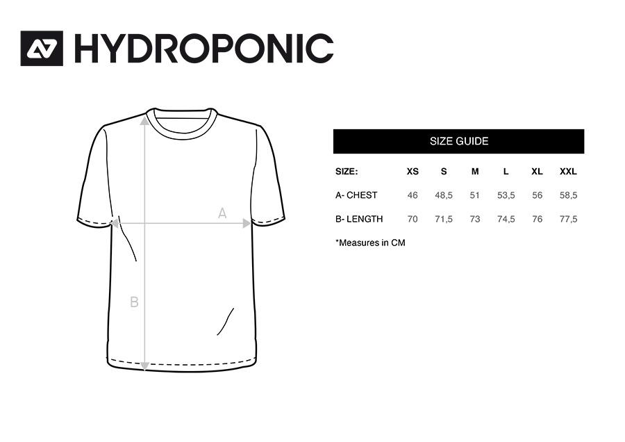 tallas camisetas hydroponic