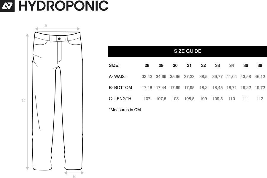 tallas pantalones chinos hydroponic